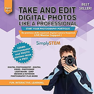 Digital PHOTOGRAPHY & VIDEO Editing Course for Kids (Ages 10+) - Learn to Take Photos or Videos and Edit them using Adobe Photoshop, Premier, Lightroom, Camtasia, Lightworks, Gimp (PC & Mac)