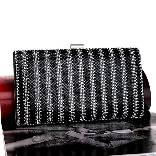 Bag 2 Bag Color 1 QEQE Dinner Clutch Diamond Banquet Ladies' Women's Evening CP8qZaPx