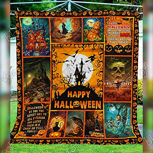 Amazon.com Black Cat Halloween Quilt