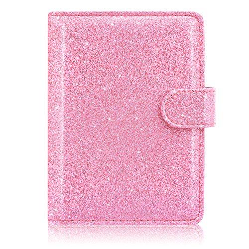 Star Holder (ACdream Passport Holder Wallet, Travel Leather RFID Blocking Cover for Passport, (Light Pink Star of Paris))