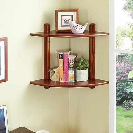 WENZHE Floating Shelves Wall Mounted Shelf Bracket Storage Rack Pine Wood Triangle Bookshelf Home Accessories
