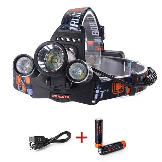 104 opinioni per 6000LM 3x CREE XM-L T6 LED Frontale Luce faro lampada Testa Headlight Headlamp +