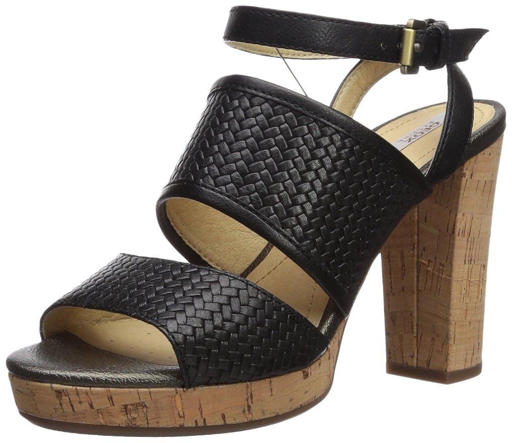 Black Geox Womens Mauvelle 6 Heeled Sandal