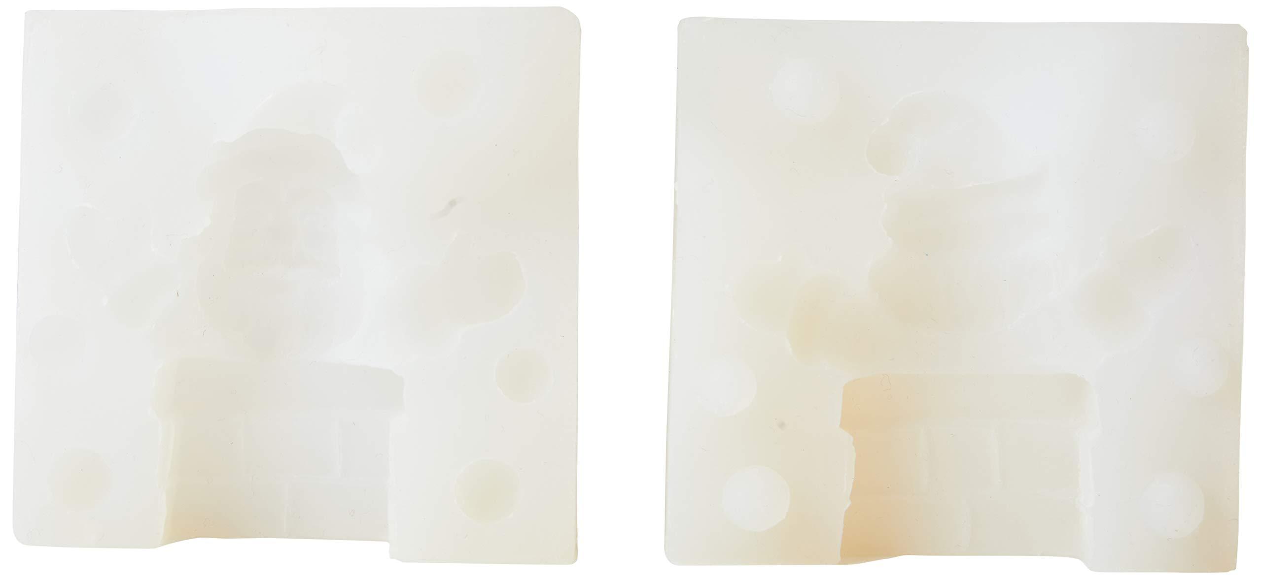 Martellato 30SM080 Silicone Mini Santa with Chimney Figure Mould, 60 x 32 x 70 mm, White