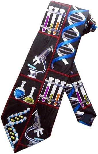 Steven Harris Química Laboratorio corbata – Negro – Talla única ...