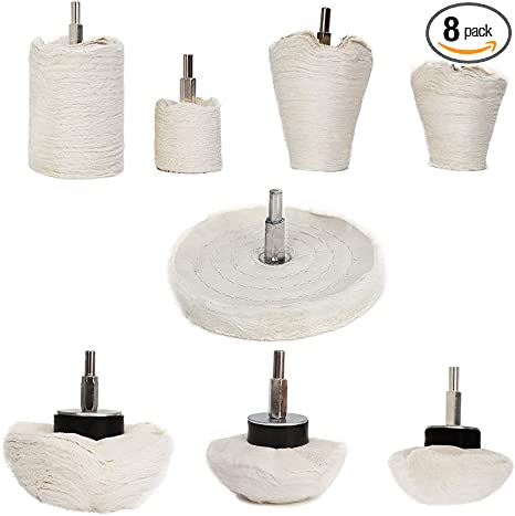 Buffing Polishing Wheel For Drill chrome 10PCS Polishing Pad Buffing Wheel Kit Wheel Grinding Head With 1//4 Handle For Manifold stainless steel aluminum