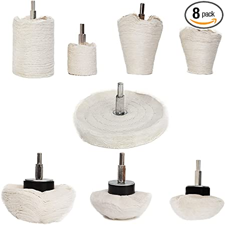 wood Makitoyo 11PCS Buffing Wheel set for Drill Manifold,stainless steel Polishing Wheel Kit with 1//4 in Hex Shafts for groove area plastics