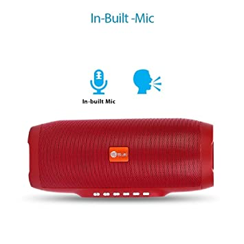 Swaggers Bluei Hifi Wireless Bluetooth Speaker With Beautiful Sound Red Color Amazon In Electronics