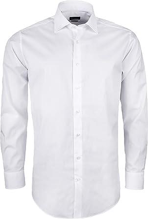 Roy Robson Camisa de algodón para hombre, corte ajustado, de ...
