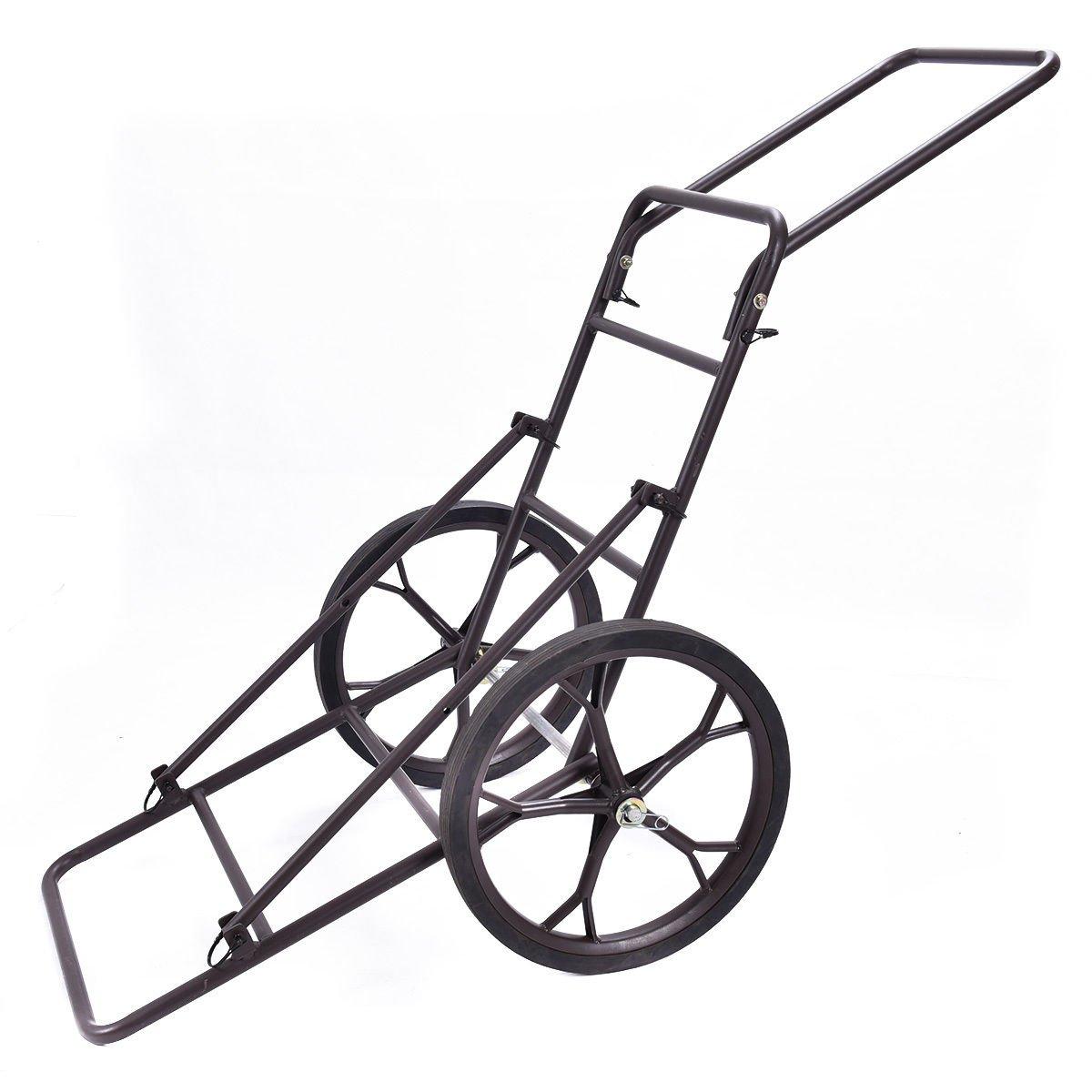 lunanice Folding Deer Cart Larger Capacity 500lbs Hauler Utility Gear Dolly Cart Hunting