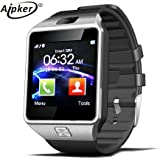 Aipker Bluetooth Smartwatch Phone with SIM TF Card Slot Camera for Samsung LG Sony All Android Smartphones Silver Silver