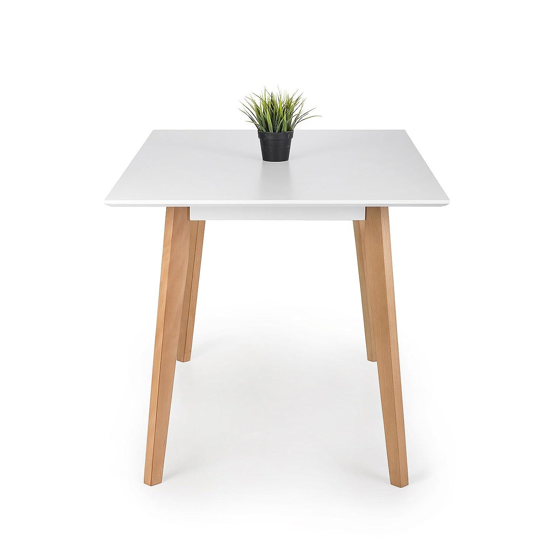 HomeKraft Jovik Esstisch, Holz, Weiß, 120 x 80 x 74 cm: Amazon.de ...