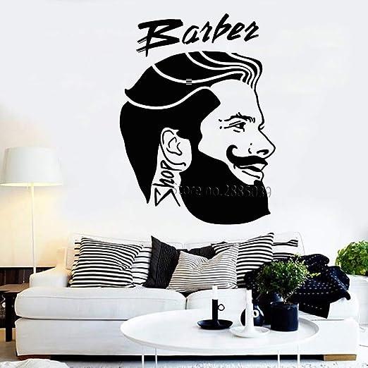 keletop Barbería Logotipo Vinilo Tatuajes de Pared para Corte de ...