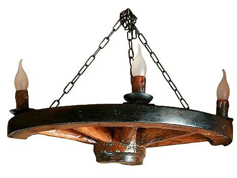 Plafoniere Con Base In Legno : Own design tradizionale rustico autentico vintage di legno ruota