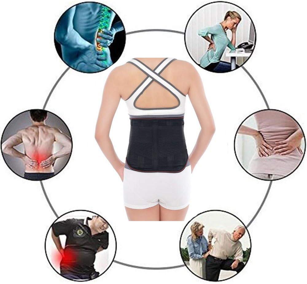 ZSZBACE Heating Waist Belt Wrap Heated Lower Back Belt Waist Warmer Heating Pad Pain Relief Support Brace for Men Women Self-Heating Back Brace