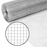 Best Choice Products 3x50ft Multipurpose 19-Gauge Double-Zinc Coated Galvanized Hardware Cloth Mesh Guard Wire w/ 1/2in Net Openings for Trees, Gutter Guards, Poultry, Animal Fences, Cages - Silver