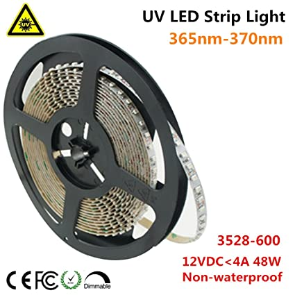 info for f7535 a89ee Amazon.com : LightingWill Ultraviolet LED Strip, 365nm-370nm ...