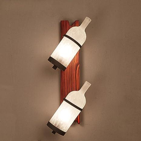 GBYZHMH Mejores deseos tienda Lampara de pared-Lámpara de Pared estilo Mediterráneo Botella de vidrio