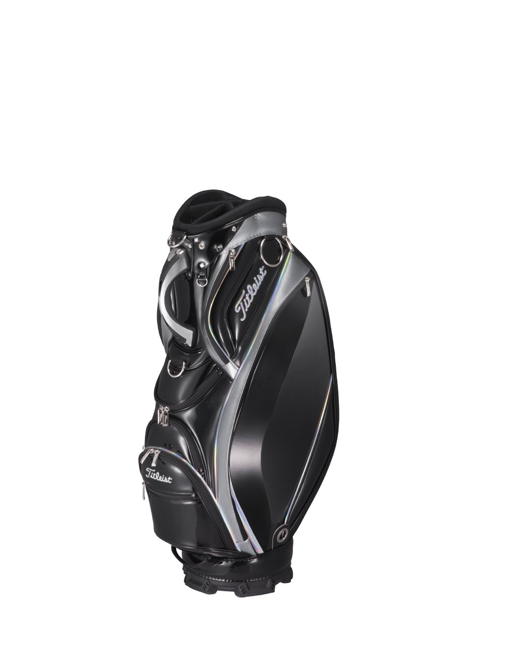 TITLEIST(タイトリスト) キャディーバッグ スタイリッシュ CB813 9.5インチ メンズ CB813-BKSV ブラックシルバー 重さ:4.7kg クラブの長さ対応:47インチ B079GVHJC8