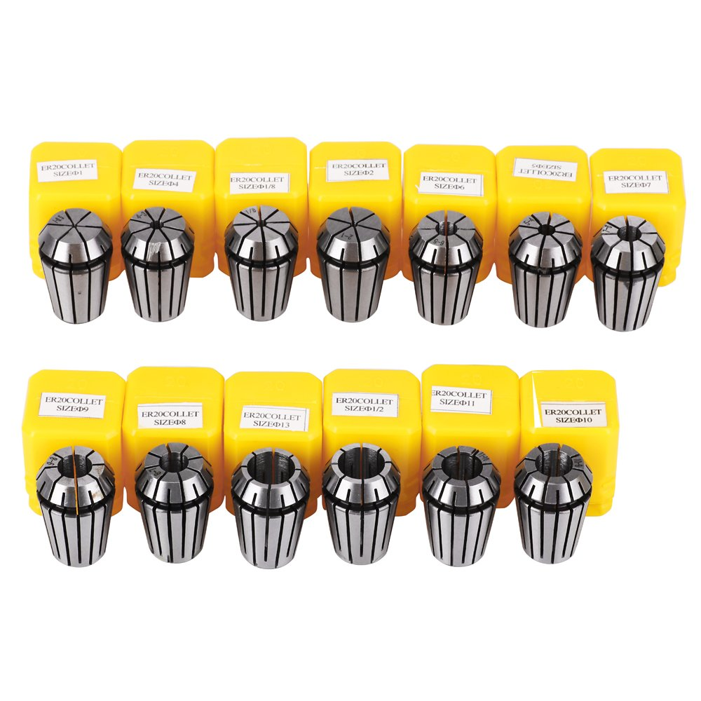 ER11 Collet Set Chuck with MT2 ER11 M10 Motor Extension Rod craftsman168 13pcs