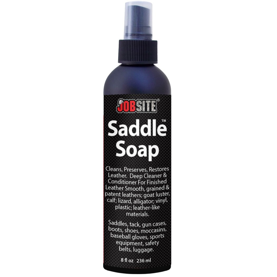 JobSite Saddle Soap Liquid - Deep Cleaner & Conditioner for Finished Leather - 8 oz. Bottle - 100% Satisfaction Guarantee 00047