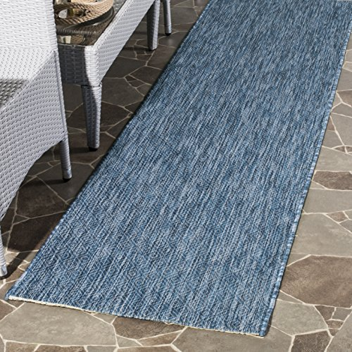 Safavieh Courtyard Collection CY8520-36822 Navy Indoor/ Outdoor Runner (2'3
