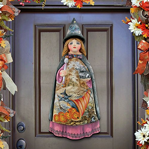 Designocracy Halloween Witch Craft Hanging Decor Wall Hanger Large Multicolor 50 Piece ()