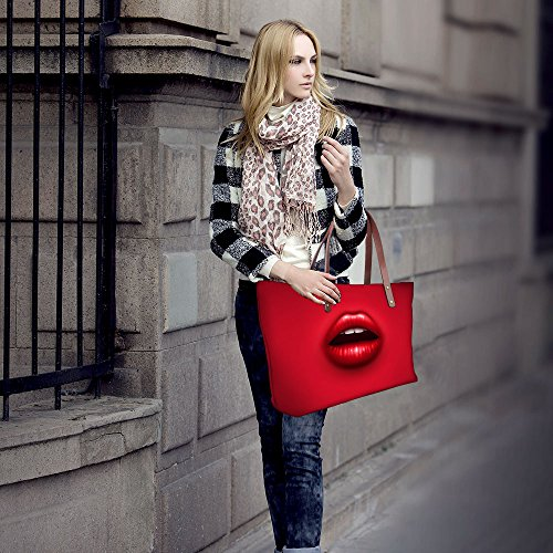 Resistant DESIGNS Tote Water Shoulder Bags Bags Neoprene Casual Handbag Sexy Fashion Red Women Lip U FOR HSqnTxRT