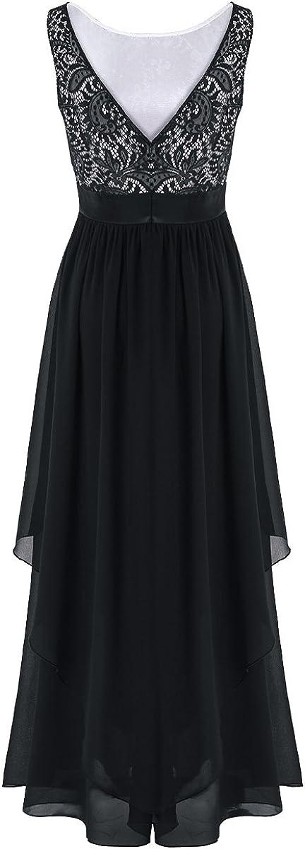 iEFiEL Elegant Damen Kleider festlich Hochzeit Maxi Lange Kleider Brautkleider Brautjungfern Party Chiffon Abendkleider