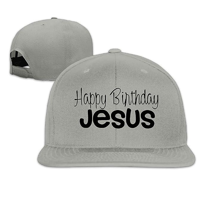 HFIUH5 Happy Birthday Jesus Printing Youth Sport Hip Hop New Chic Korea Ulzzang Basic Fashion Adjustable Printed Unisex Baseball Cap Snapback Trucker Hat At