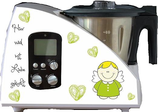 Robot de cocina pegatinas Ángel verde para Monsieur Cuisine: Amazon.es