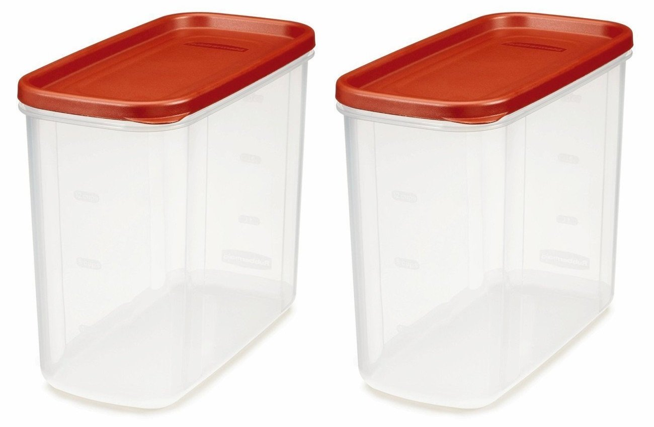 Rubbermaid 071691688037 16-Cup Dry Food Container (Pack of 2), Clear