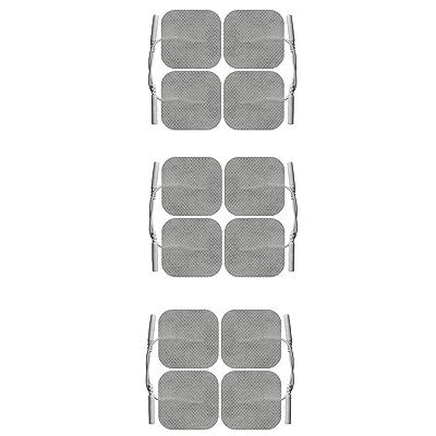 12 électrodes 5 x 5 cm pour les appareils d'électrostimulation