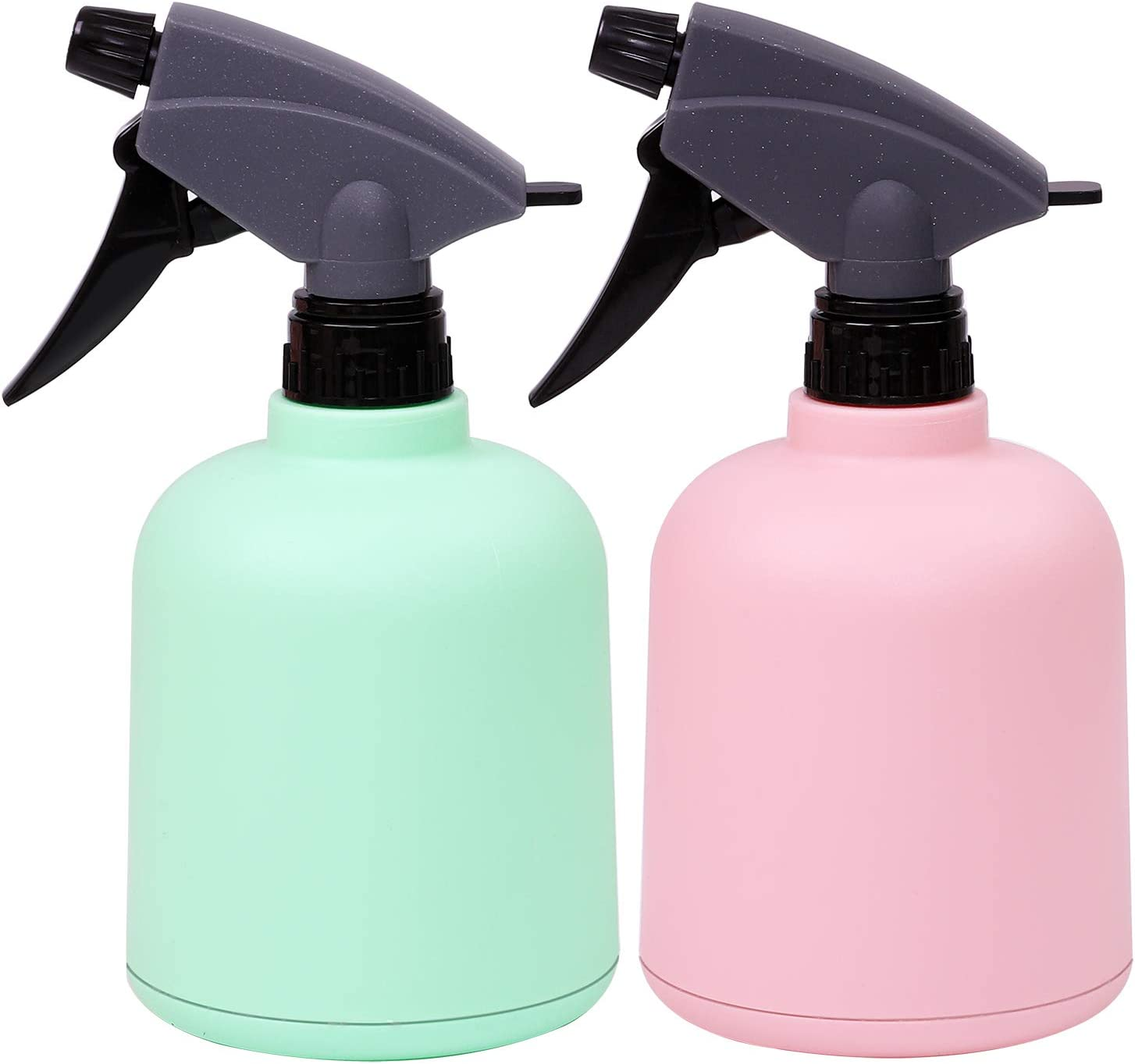 URATOT 2 Pieces Green and Pink Plastic Spray Bottle Empty Spray Bottle Colorful Bottles for Gardening, Cleaning, 600ml : Garden & Outdoor