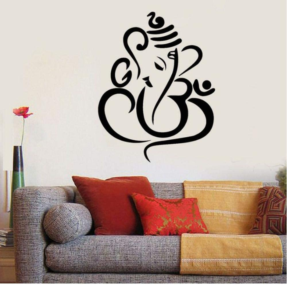 Wall Sticker for Living Room Bedroom Decor Art Home Decoration Ganesha Elephant Indian Design Vinyl Lord of Success Home Interior Design Murals 54x70cm