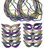 Mardi Gras Face Mask & Bead Necklaces