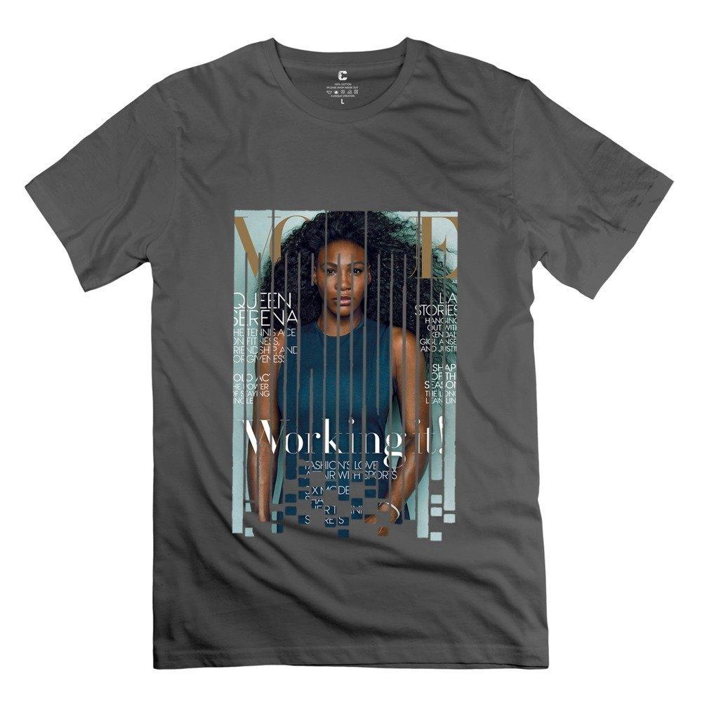 64d8e88ce4332 Amazon.com: XY-TEE Men's Crew Neck Tee Serena Williams Rank First ...
