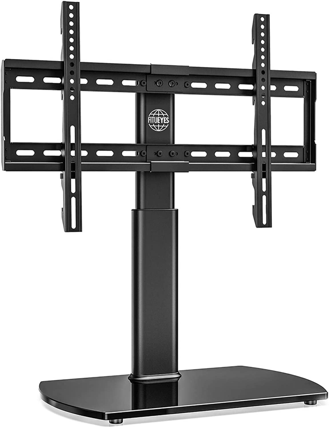 FITUEYES Universal TV Stand Base Swivel Tabletop TV Stand with Mount for 32 to 65 inch Flat Screen TV 80 Degree Swivel, 3 Level Height Adjustable,Tempered Glass Base,Holds up to110 lbs Screens: Electronics