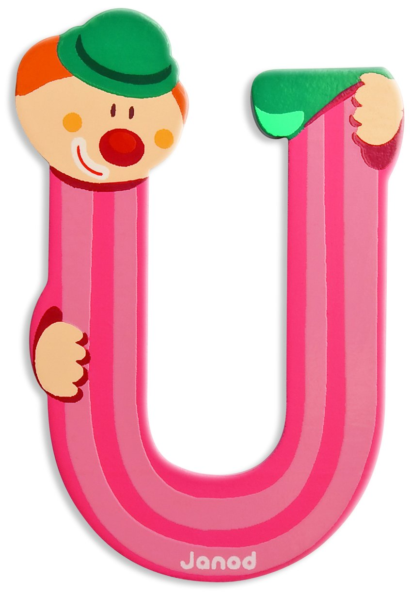 Janod J Clown Letter U Amazon Toys & Games