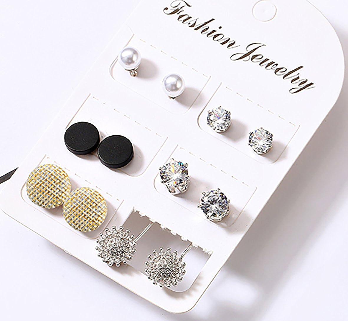 Platinum Plated Crystal Pearl Fabric Stud or Jacket Earrings