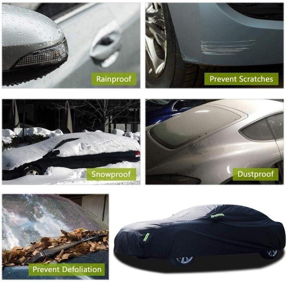 Kompatibel mit Toyota GT86 voller Auto-Abdeckung wasserdichten Oxford-Tuch im Freien Windschutzscheibe Staubschutz Sonnenschutz Kratzschutz-UV Allwetter atmungsaktiv Car Persenning Color : Black