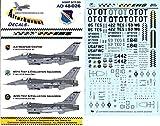Afterburner Decals 1:48 Test Viper F-16 CJ for Tamiya #AD48-026