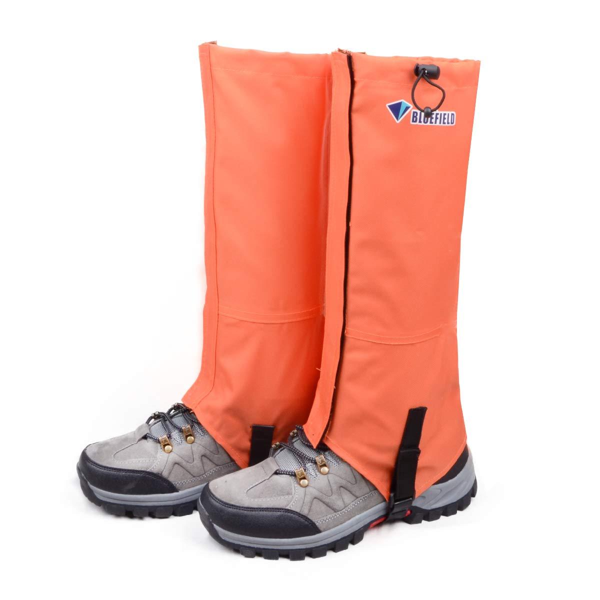 TRIWONDER Leg Gaiters Waterproof Snow Boot Gators Hiking Gaiters Men Women for Walking Climbing Hunting Cycling Backpacking Lightweight Rain Shoe Gaiters (1 Pair) (Orange, S) by TRIWONDER