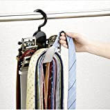 Tie Rack Hanger Belt Rack Tie organizer Belt organizer Necktie Cross Hanger Compact Closet Organizer with 11 hooks by holding 8 belts and 30 ties