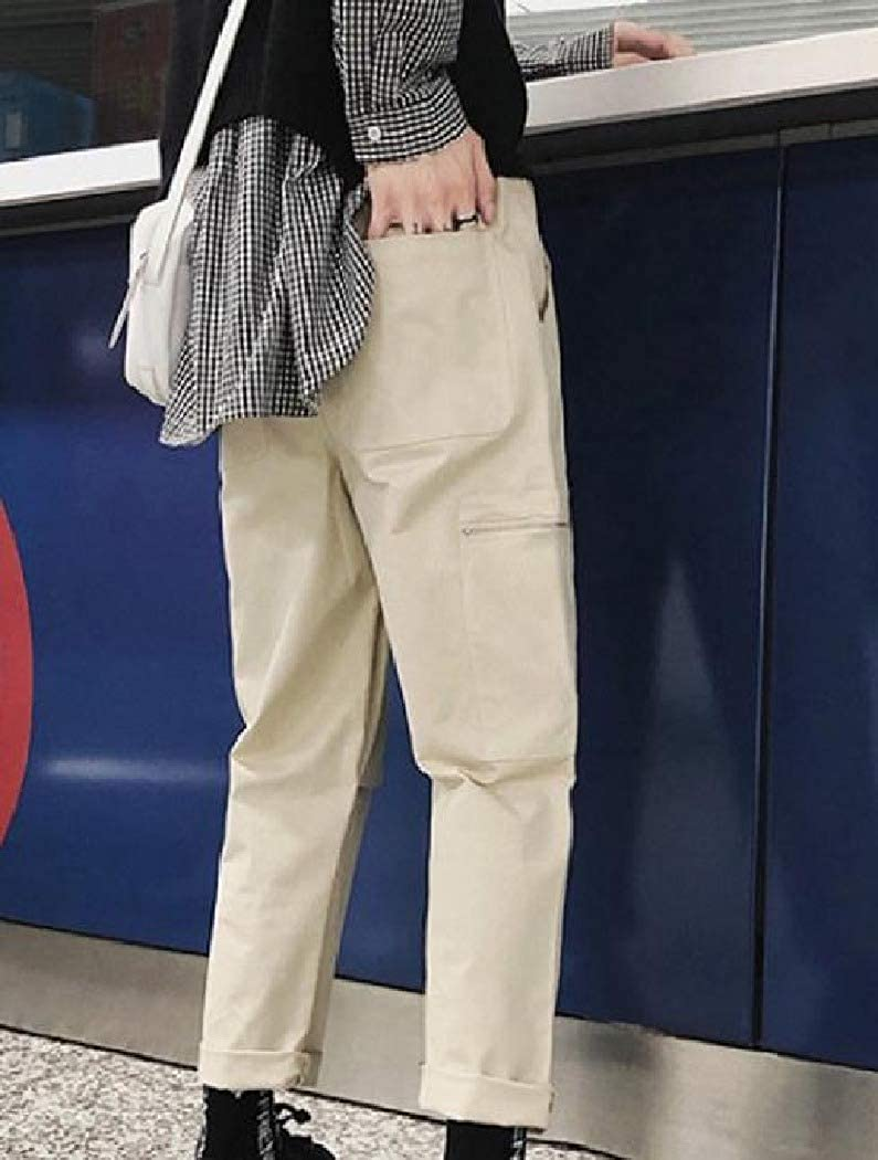 Mfasica Mens Classic Cargo Pants Fit Junior Casual Pants with Pockets