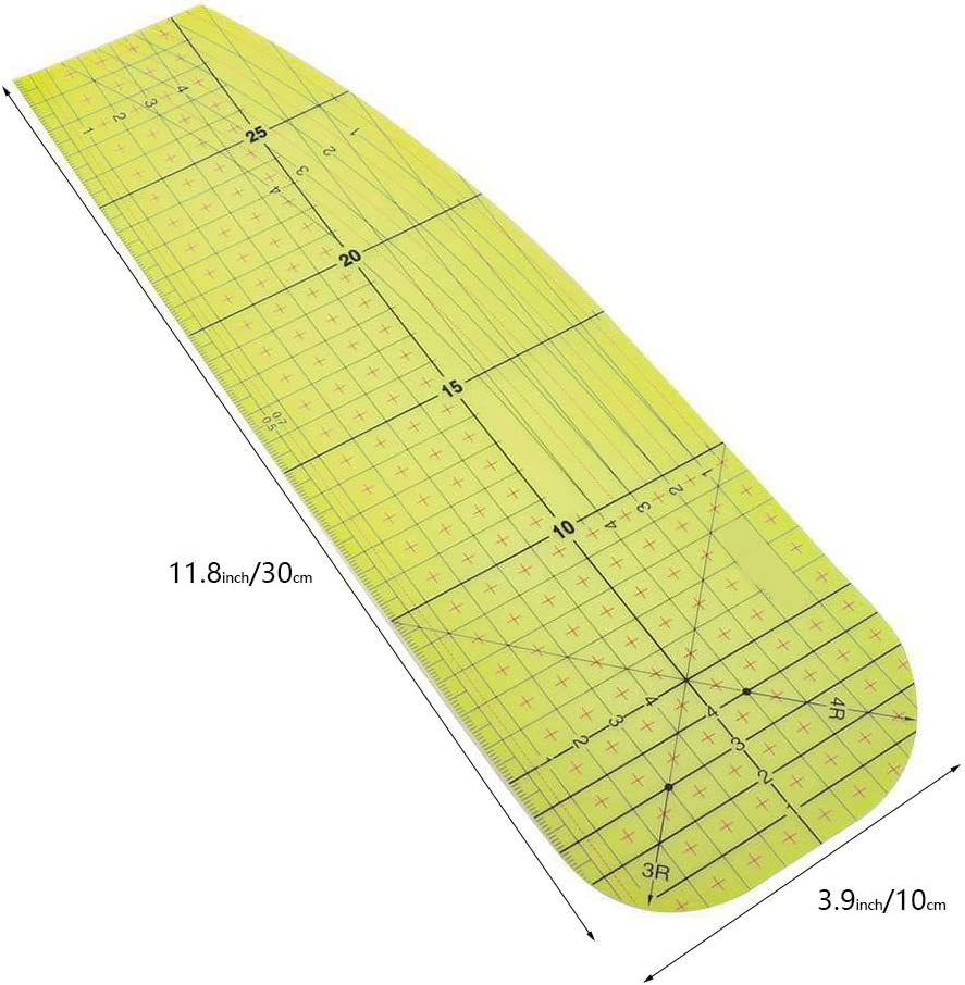 Hot Ironing Measuring Ruler,High Temperature Resistance Ironing Iron Rule,DIY Sewing Quilting Supplies Ironing Ruler,Patchwork Control Ruler Measuring Handmade Tool for Quilting Knitting.