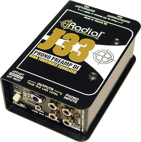 Radial J33 Riaa - Preamplificador para tocadiscos (caja directa ...