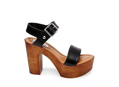 0b5cd9164 Steve Madden Women s Potion Black Leather Sandal ...