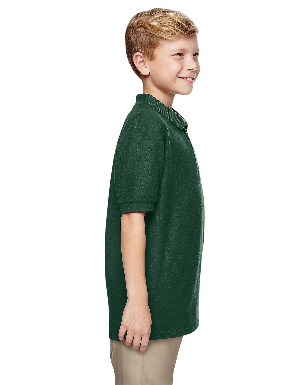 Gildan Boys DryBlend 6.3 oz -Forest GRE -S-12PK Double Piqu/é Sport Shirt G728B