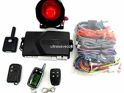 Amazon.com: 2 Way LCD Remote Car Alarm System Engine Start ...